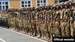 Таджикские солдаты в Рамитском ущелье.