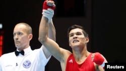 Чемпион Азиады казахстанский боксер Данияр Елеусинов.