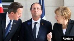 Дэвид Кэмерон, Франсуа Олланд и Ангела Меркель