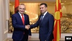 архивска фотографија, Средба на премиерот Зоран Заев со претседателот на Албанија Илир Мета во Скопје.