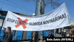 Novinari prosvjeduju u Zagrebu, fotoarhiv