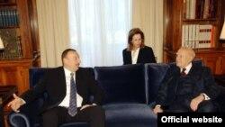 İlham Əliyevin yunanıstanlı həmkarı Karolos Papulyasla görüşü