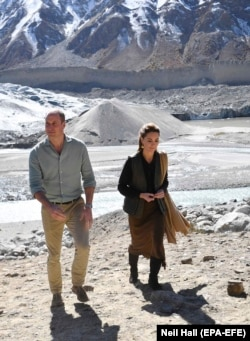 "The duke quipped that his geography teacher ""would be well impressed that I'm back at a glacier after all these years."""