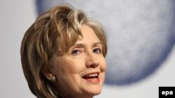 Secretary of State Hillary Clinton said in Copenhagen that the United States is prepared to back a $100 billion a year fund for poor nations from 2020.