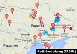Тиск на Євромайдан у новинах Радіо Свобода