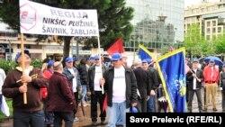 Sindikalni marš u Podgorici