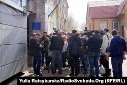 Під час суду над Олександром Пугачовим. Кіровський районний суд Дніпра, 8 квітня 2019 року