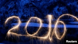 تصویری از مراسم شب سال نو میلادی در روسیه