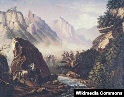 Dağıstan dağlarında atışma. 1840-41