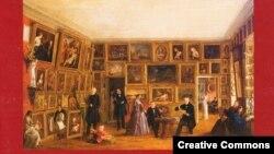 В московском Историческом музее проходит выставка-презентация ''Национальная портретная галерея: живописный портрет XVII- начала ХХ века'' (на фото: фрагмент буклета выставки)