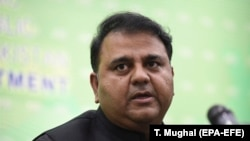 Pakistan' s Minister for Information Fawad Chaudhry