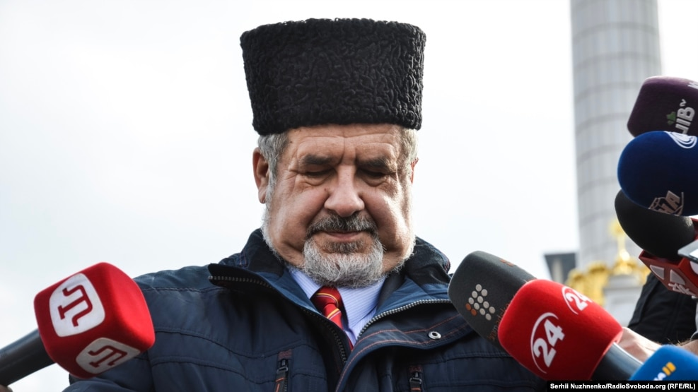 Refat Chubarov, the chairman of the Crimean Tatars' Mejlis assembly, which was banned by Russia this year.