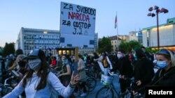 Антивладини протести во Словенија на 8 мај 2020