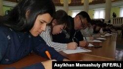 Назарбаев элине диктант жаздырды