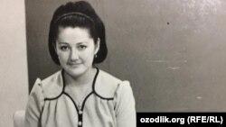 Лола Хатамова в молодости.
