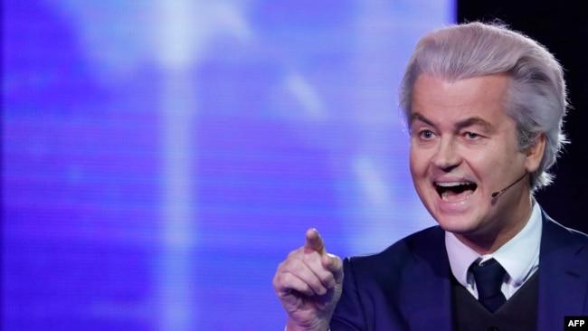 Lideri i Partisë Liria, Geert Wilders.