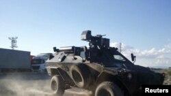 Ирақ шекарасындағы түрік армиясының танктері.
