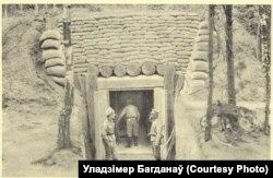 Бліндаж расейцаў у акопе, 1916 год