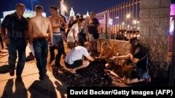 Через несколько минут после выстрелов, Лас-Вегас, 1 октября 2017