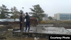 Строительство насосной станции ливневой канализации в Астане на бывшем дачном участке № 131, принадлежавшем Михаилу и Валерию Ивановым и Ирине Корниловой.
