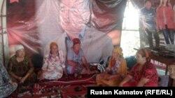 Участницы голодовки, Базар-Коргонский район. 7 августа 2017 г.