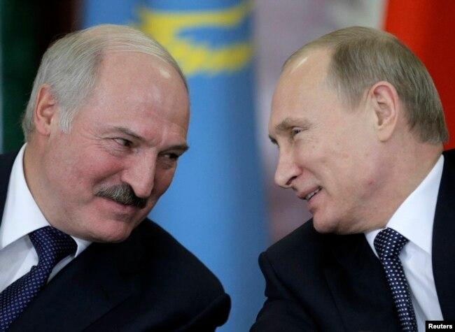 Президент Білорусі Олександр Лукашенко і президент Росії Володимир Путін (архівне фото)
