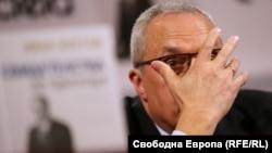 """Иван Костов при представяне на книгата си """"Свидетелства за прехода"""""""