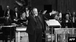 اورسن ولز در مراسم جایزه سزار در سال ۱۹۸۲