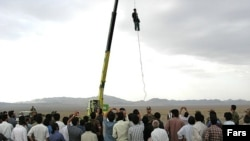 A public execution in Darzin, eastern Iran.