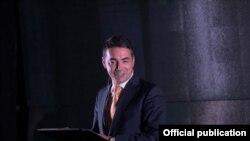 Министерот за надворешни работи на Македонија, Никола Димитров, на конференцијата организирана по повод 10 годишнината од основањето на организацијата - Европски фонд за Балканот.
