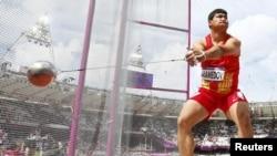 Türkmenistanly sportsmen Mergen Mamedow.