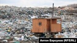 Действующий мусорный полигон в Новосибирске