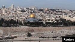 Вид на Храмовую гору в Иерусалиме.