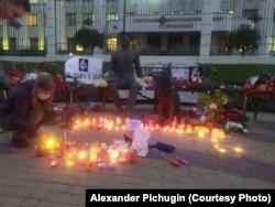 Мемориал на месте гибели Ирины Славиной