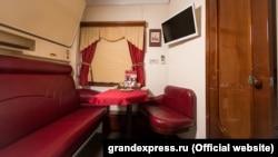 Найдорожче купе у приватному поїзді – «Гранд Імперіал», фото з сайту компанії