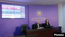 Komisioni Qendror Zgjehdor shpall rezultatet, jerevan, 7 maj, 2012