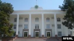 Türkmenistanyň Ylymlar akademiýasynyň baş binasy, Aşgabat şäheri.