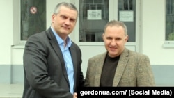 Борис Тодуров та Сергій Аксьонов, березень 2014 року