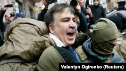 La arestarea lui Mihail Saakashvili astăzi la Kiev