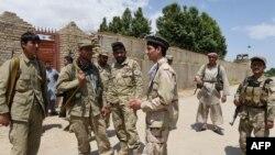 Pjesëtarë të njësiteve të Policisë Lokale Afgane