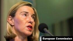 Евробиримдиктин тышкы саясат мекемесинин жетекчиси Федерика Могерини.