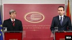 Европратеникот Едуард Кукан и вицепремерот Васко Наумовски