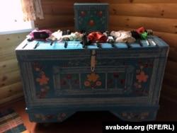 Куфар у Доме грамадзянскіх абрадаў на тэрыторыі музэю