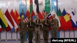 Церемония, посвященная формальному завершению боевой миссии США и НАТО в Афганистане. 28 декабря 2014 года.