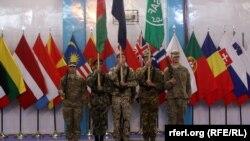 НАТОнун согуштук миссиясын аяктоо жөрөлгөсү. Кабул, 28-декабрь, 2014-жыл.