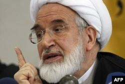 Former reformist parliament speaker Mehdi Karrubi, who has been under house arrest with fellow opposition leader Mir Hossein Musavi since 2011.