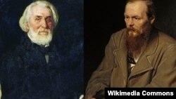 Ivan Turgenev (solda) və Fyodor Dostoyevsky