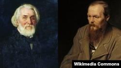 İvan Turgenev və Fyodor Dostoyevski