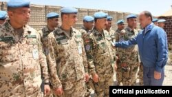 Afghanistan - Armenia's Defense Minister Seyran Ohanian inspects Armenian troops stationed near Kunduz, undated