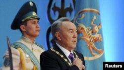 Нурсултан Назарбаев на церемонии инаугурации, Астана, 8 апреля 2011